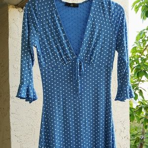 Missguided polka dot jersey tea dress